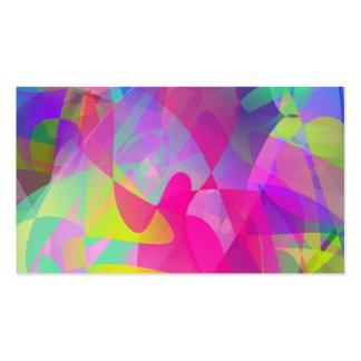 Abstract Flower Art Business Card Templates