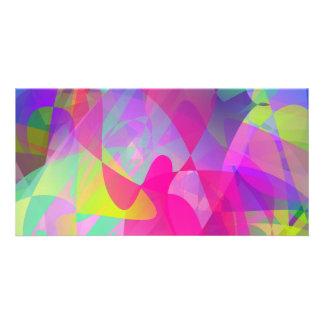 Abstract Flower Art Custom Photo Card