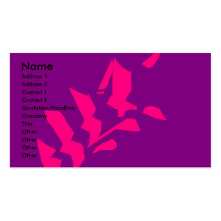 abstract flower pack of standard business cards