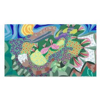 Abstract Flower Garden Artist Trading Card Business Card Template
