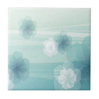 Abstract Flowers Blue Love Ceramic Tiles