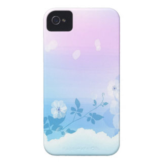 Abstract Flowers Blue Sky Case-Mate iPhone 4 Case