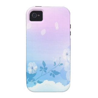 Abstract Flowers Blue Sky Case-Mate iPhone 4 Cases