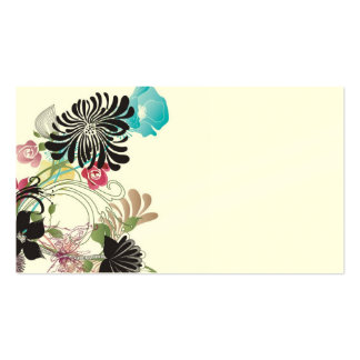 Abstract flowers Business Card
