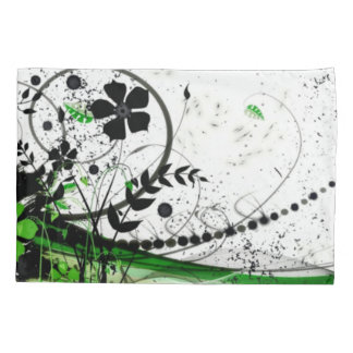Abstract Flowers Collage Airbrush Art Pillowcase