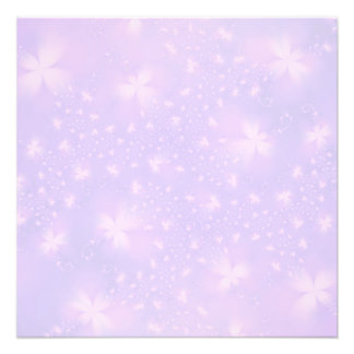 Abstract Flowers in Lilac and Pink Photo Print