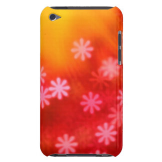 Abstract Flowers orange pink yellow floral pattern iPod Touch Cases