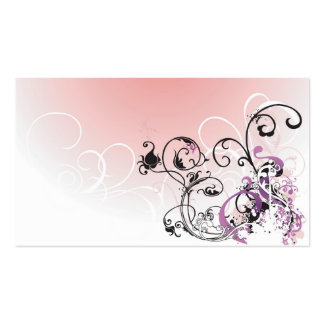 Abstract flowers Profile Card Business Cards