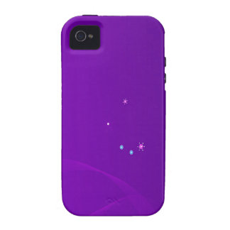 Abstract Flowers Purple Sky iPhone 4 Cases