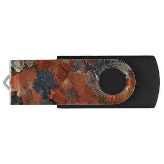 Abstract Flowers Swivel USB Flash Drive Swivel USB 3.0 Flash Drive