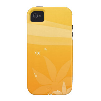Abstract Flowers Warm Colors Sky iPhone 4/4S Cover