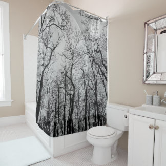 Abstract  forest customize color Shower curtain