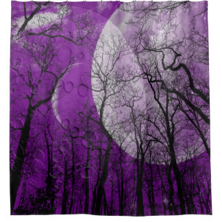 "Abstract forest ""customize color"" Shower curtain"