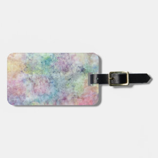 abstract free hand drawing from watercolor luggage tag