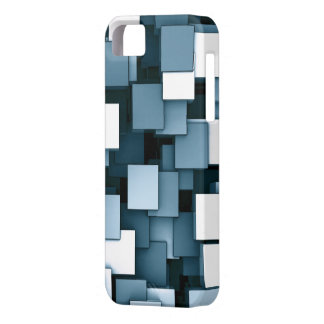 Abstract Futuristic Blue Cube Voxel Pattern iPhone 5 Cover