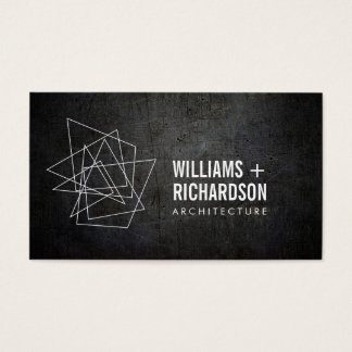 Abstract Geometric Architectural Logo Black