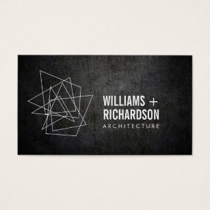 3000 builder business cards and builder business card templates abstract geometric architectural logo black business card reheart Images