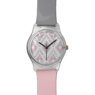 Abstract Geometric Aztec Pattern Watch