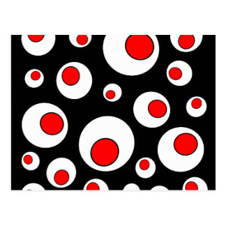 Abstract Geometric Cool Circles Postcard