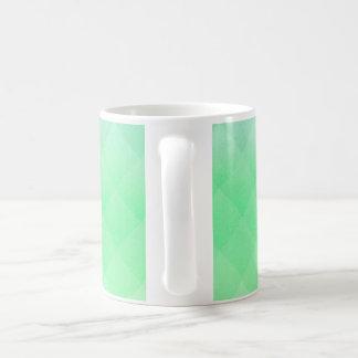 Abstract Geometric Green Basic White Mug