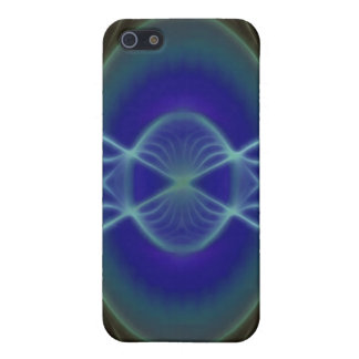 Abstract Glowing Circle design iPhone 5 Cases