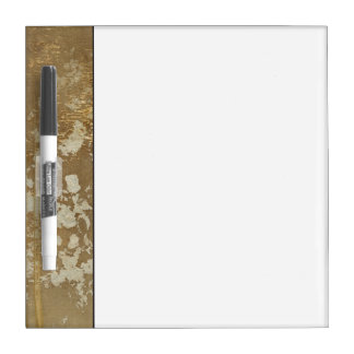 Abstract Gold Painting with Silver Speckles Dry Erase Board