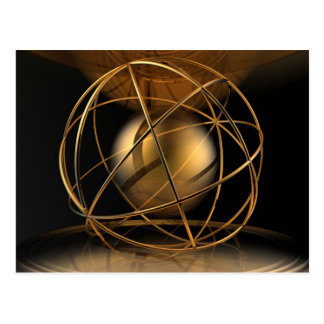 Abstract Golden Cage Postcard