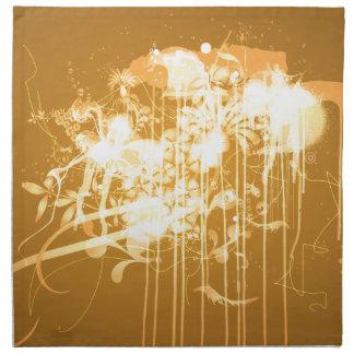 Abstract graffiti napkin