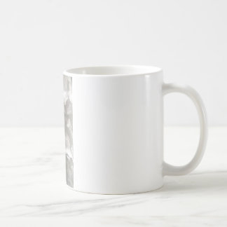 abstract gray and white metal coffee mug