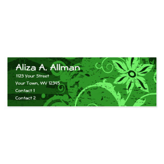 Abstract Green Floral Business Cards
