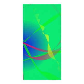 Abstract Green Planet Art Custom Photo Card