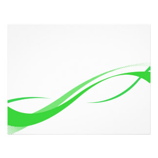 Abstract Green Swoosh Lines Background 21.5 Cm X 28 Cm Flyer