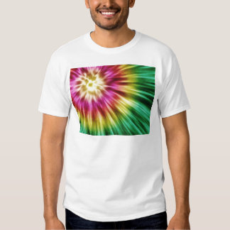 Abstract Green Tie Dye Shirts