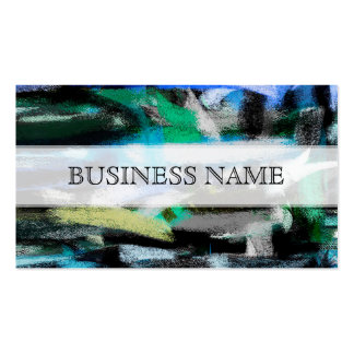 Abstract Green Tones Pastel Pack Of Standard Business Cards