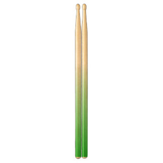 Abstract green&white drumsticks