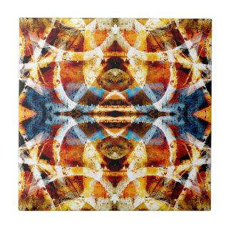 Abstract grunge graffiti pattern small square tile