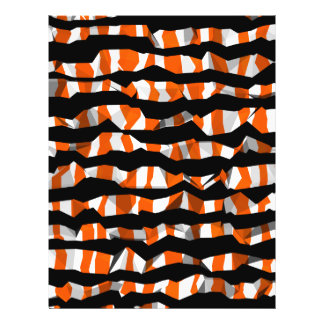 Abstract Halloween stripes Flyer