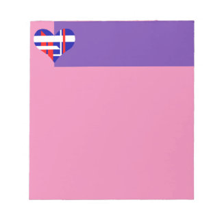 Abstract heart Notepad