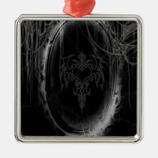 Abstract Horror Black Mirror Christmas Ornament