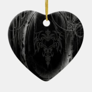 Abstract Horror Black Mirror Christmas Ornament