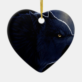 Abstract Horror Dark Wolf Silhouette Christmas Ornament