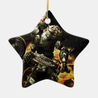 Abstract Horror Death Comes Armour Christmas Ornament