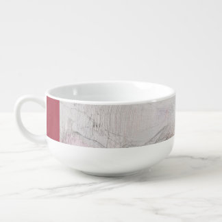 Abstract imagination soup bowl with handle