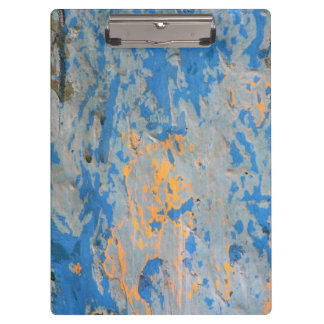 Abstract in Blue Clipboard