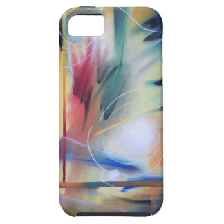 Abstract in Cream iPhone 5 Cases