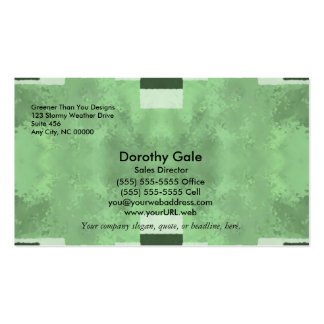 Abstract in Shades of Green Pack Of Standard Business Cards