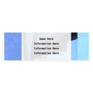 Abstract in shades on blue. Double-Sided mini business cards (Pack of 20)