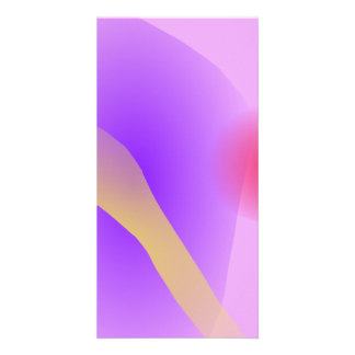 Abstract Lavender Customised Photo Card