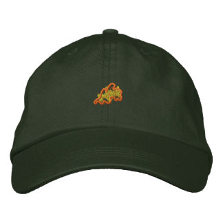 Abstract Leaf Embroidered Hats