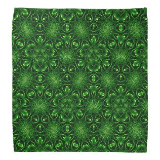 Abstract leaf pattern bandana